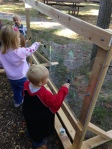 Using the Outdoor Easel in the Natural Play Area